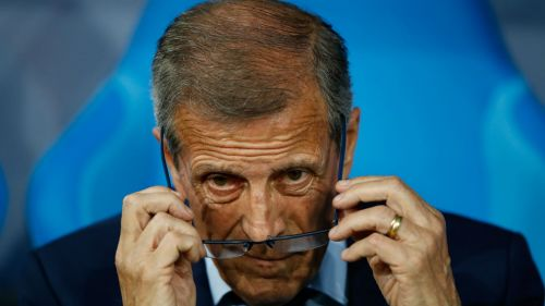 Oscar Tabarez Uruguay v Portugal Round of 16 FIFA World Cup 30062018