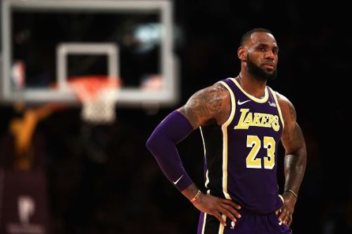 LeBron in the purple and gold