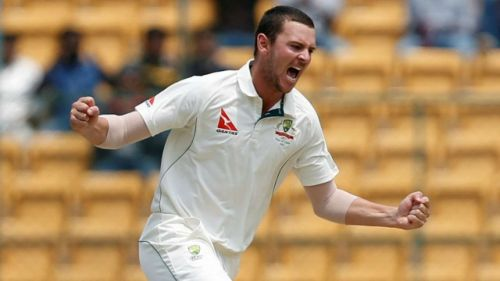 Hazlewood has an excellent record against India