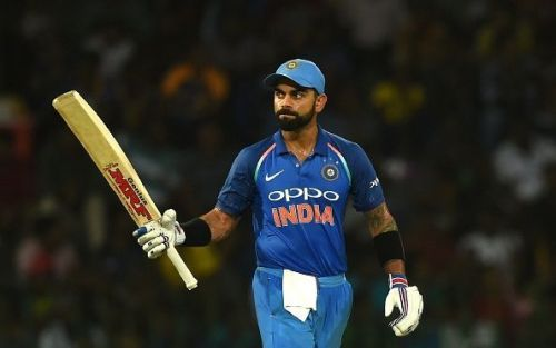 Virat Kohli scored three consecutive centuries in this ODI series.