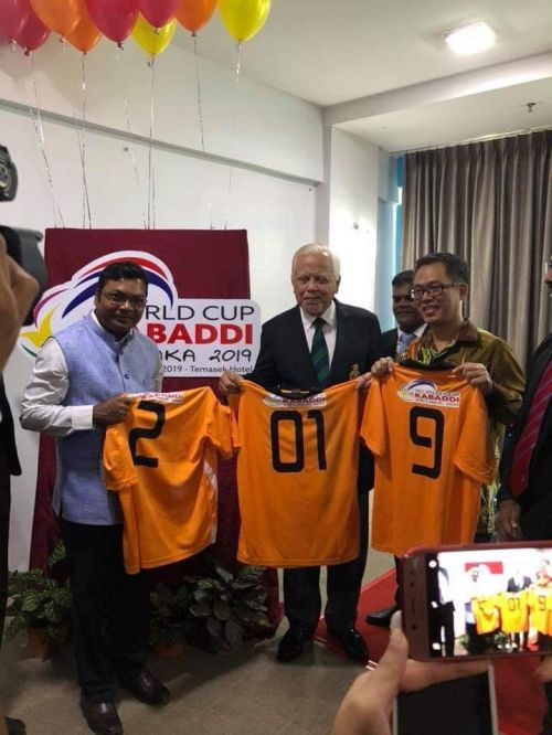 The Governor of Melaka (Center) in the Official Launch of World Cup Kabaddi 2019.