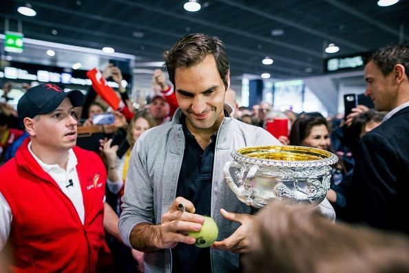 Roger Federer has lifted the Norman Brookes Challenge Cup a record 6 times
