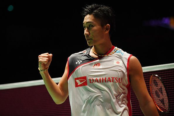 Kento Momota of Japan