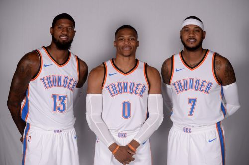 The 'OK3' in the Thunder home jersey