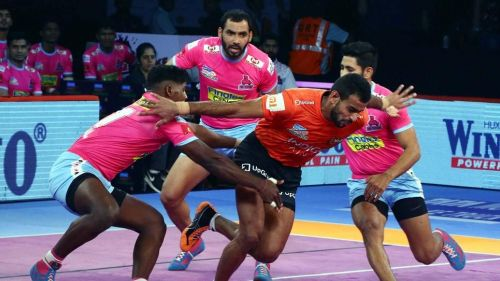 Abhishek Singh was the man of the moment for U Mumba