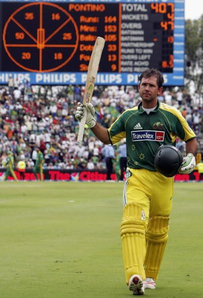 Ricky Ponting hammered Proteas to every corner in his innings of 164