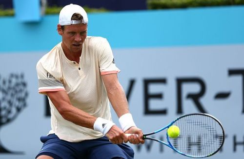 Tomas Berdych at the Fever-Tree Championships 2018