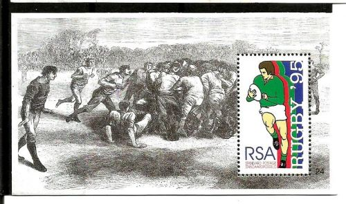 MINIATURE ISSUED BY SOUTH AFRICA ON 1995 RUGBY WORLD CUP HOSTED BY SOUTH AFRICA
