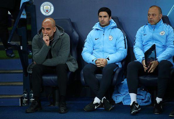 Arteta is now a coach at Manchester City