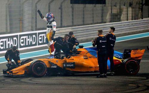 Fernando Alonso at the 2018 F1 Grand Prix of Abu Dhabi