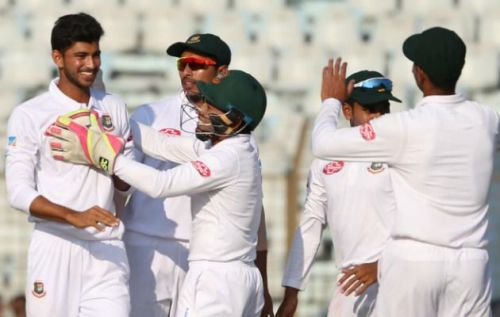 Nayeem Hasan, a 17-year-kid, takes five wickets as a debutant and makes history