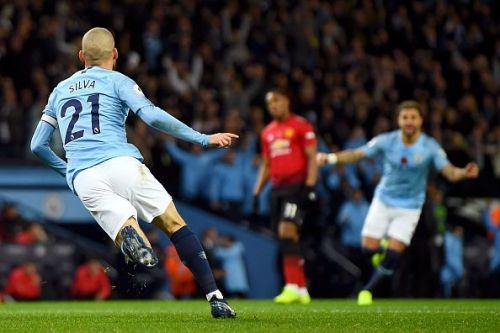 David Silva scored the opening goal in the 11th minute for City.