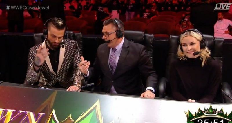 There was an uncomfortable atmosphere at the announce table