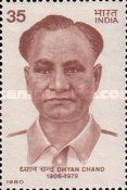 Stamp issued by India Post on Major Dhyan Chand