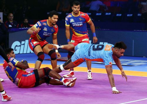 Maninder Singh scored 14 points tonight for Bengal Warriors