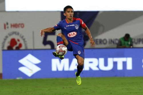Sunil Chhetri took to the Social Media amidst the ongoing International Break to express his views regarding the current allotment of the slots in the AFC events (Image Courtesy: ISL)