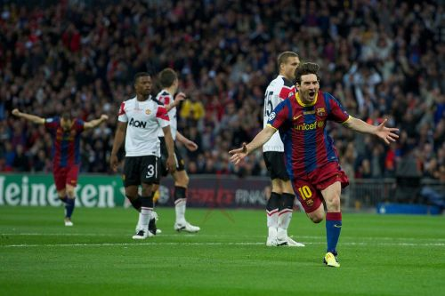 Messi's goal put Barcelona in front