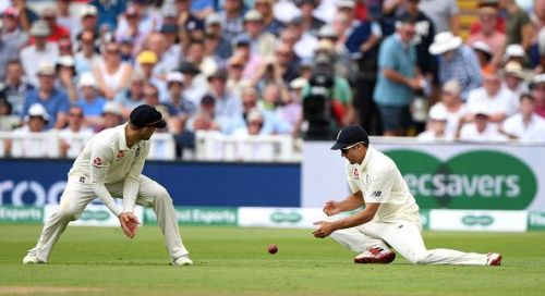 Alastair Cook missed a simple catch in the series against India in 2018