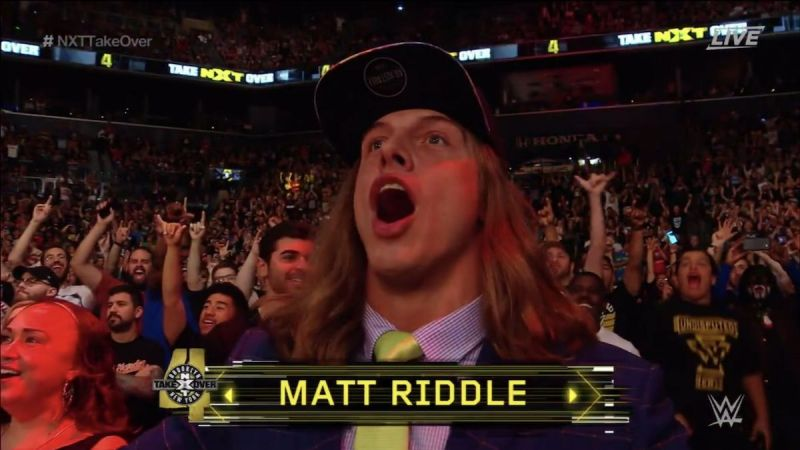 Matt Riddle at NXT Takeover: Brooklyn 4