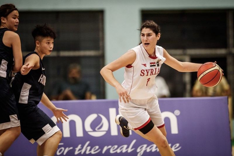 Noura Bshara of Syria earned a double-double (Image Courtesy: FIBA)