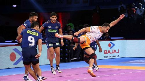 Sandeep Narwal scored a High 5 tonight for Puneri Paltan