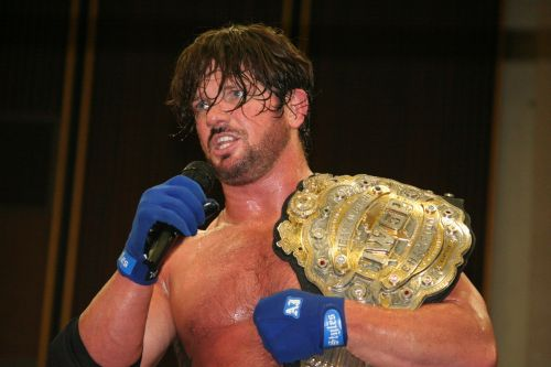 AJ Styles as the IWGP Heavyweight Champion
