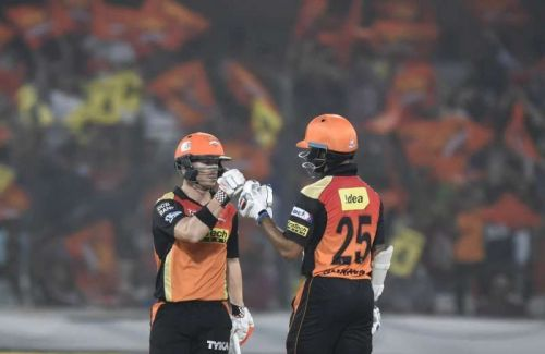 Sunrisers Hyderabad will be without one half of their dynamic opening duo