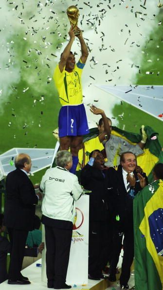 Cafu lifted the World Cup in 2002 for Brazil