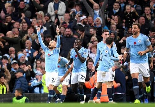 David Silva scored after just 12 minutes of today's clash