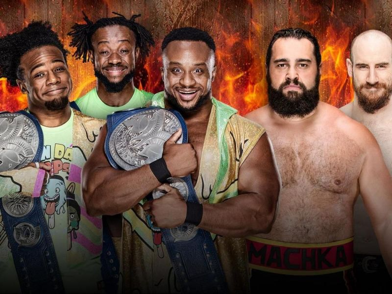 The New Day faced Rusev Day at HIAC 2018