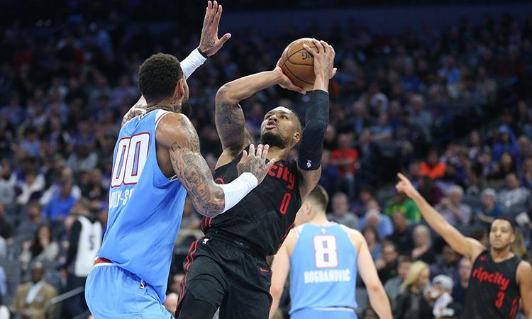 Damian Lillard dropped 50 points to down the Sacramento Kings. Credit: NBA