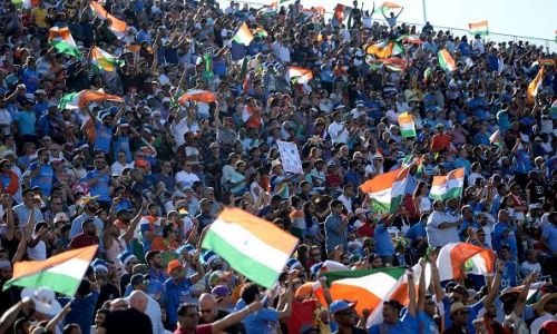 Indian fans cheering