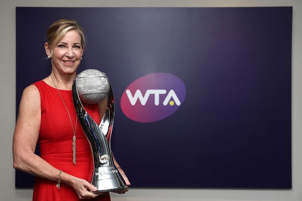 Chris Evert at the 2018 BNP Paribas WTA Finals Singapore