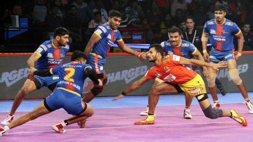 Sachin Tanwar was the top scorer for Gujarat Fortunegiants tonight