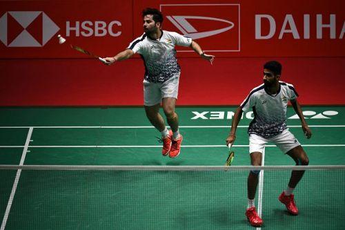 Manu Attri (back) and B. Sumeeth Reddy
