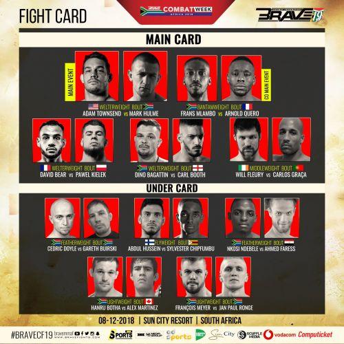 Brave 19 - Full Fight Card