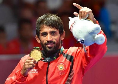 Bajrang Punia won gold medals at the Commonwealth Games and the Asian Games earlier this year