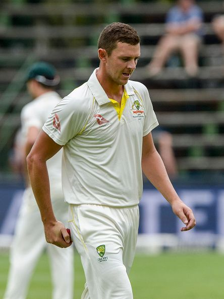 Hazlewood picked up 7 wickets in his debut match