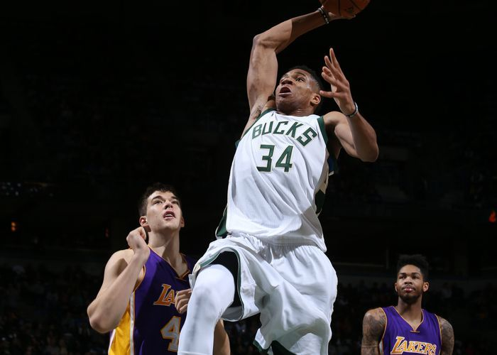 Giannis went off for 41 points against the Lakers