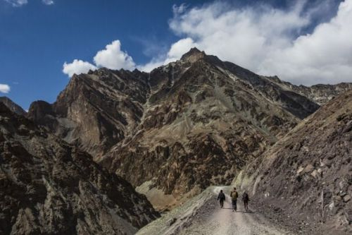 A mountain run gets extremely difficult because of low oxygen levels