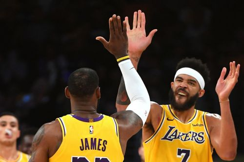 JaVale McGee and LeBron James arrived in Los Angeles this summer