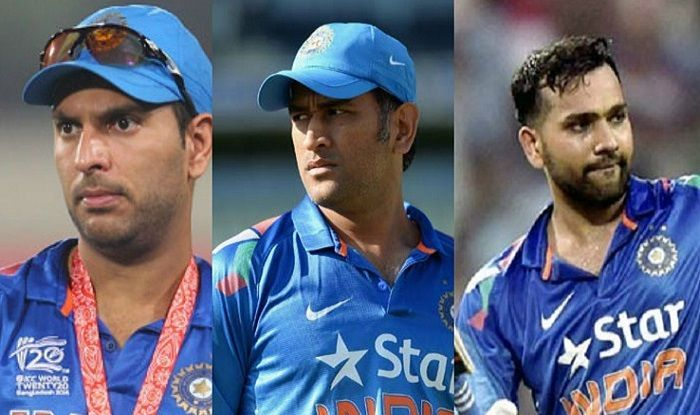 Yuvraj Singh, MS Dhoni and Rohit Sharma have represented India in all the T20 World Cups!