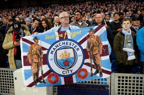A night of remembrance at the Etihad; 100 years after the end of WW1.