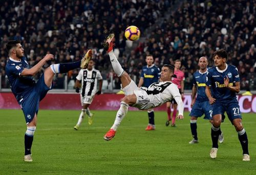 Ronaldo during Juventus v SPAL - Serie A