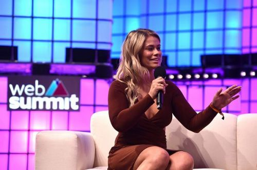 Paige VanZant at the Web Summit 2018 in Lisbon
