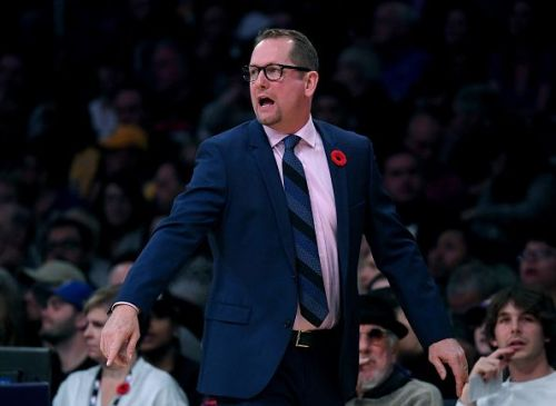 Raptors head coach Nick Nurse has more viable options to choose from on his bench