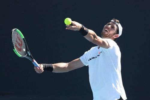 Khachanov's serve was particularly good in the match