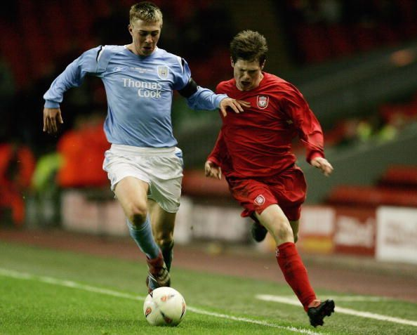 Michael Johnson (L) was one of the brightest prospects from the Manchester City academy
