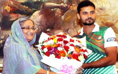 Mashrafe Mortaza joins politics as he set to compete in the next national election for Awami League