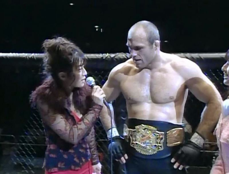 Randy Couture after his victory in the headliner